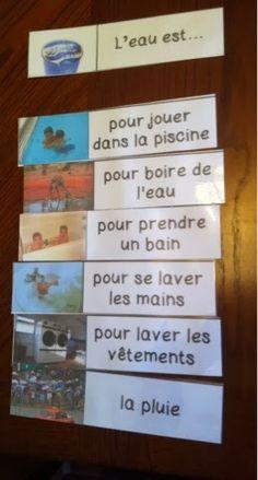 Primary French Immersion Resources - l'usage de l'eau