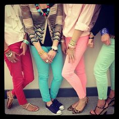 colored jeans....love