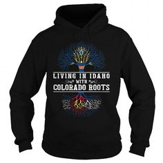 022-LIVING IN IDAHO WITH COLORADO ROOTS T-Shirts, Hoodies (38.95$ ==► Shopping Now!)