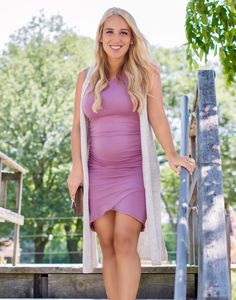 d9625b60c6c Our Sexy Mama Maternity Basic Ruched Maternity Dress will make every Sexy  Mama look and feel