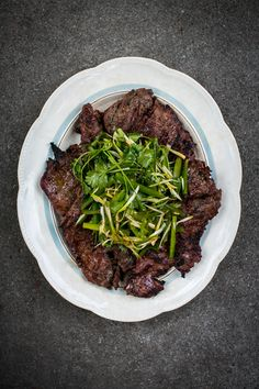 Soy Ginger BBQ Steak with Sesame Coriander Salad | DonalSkehan.com, Quickest BBQ steak you'll ever cook.