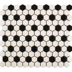 Matt Chequer Hexagon Tiles | Walls and Floors