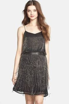 Adrianna Papell Roaring 20's inspired flapper dress