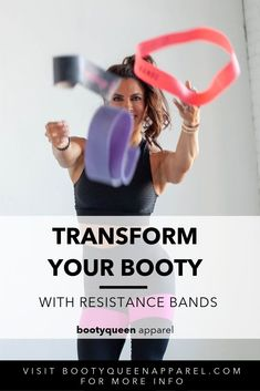 Transform Your Booty with Resistance Bands exercises Gym Workout Plan For Women, At Home Workouts For Women, Fitness Tips For Women, Fit Board Workouts, Band Workouts, Core Workouts, Queen Band, Athletic Outfits, Athletic Wear