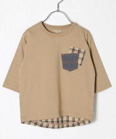 【キッズ】バックフハクT7分袖 Boys T Shirts, Tee Shirts, Shirt Transformation, Boy Fashion, Fashion Design, Costume Collection, Apparel Design, Minimalist Fashion, Diy Clothes
