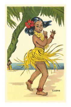Apologise, but, Vintage hawaiian hula girl art essence
