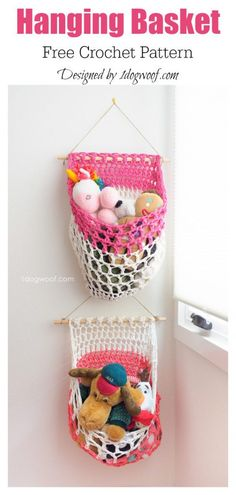 T-Shirt Yarn Hanging Basket Free Crochet Pattern - Örgü Modelleri Crochet Basket Pattern, Easy Crochet Patterns, Crochet Baskets, Crochet Ideas, Crochet Home, Crochet Yarn, Free Crochet, Free Knitting, Baby Knitting