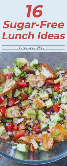 16 Sugar-Free Lunch Ideas to Pack Up for Work – – These healthy lunch ideas with no added sugar will actually keep you full until dinner. 16 Sugar-Free Lunch Ideas to Pack Up for Work – – These healthy lunch ideas with no added sugar will actually … Sugar Free Lunch Ideas, Sugar Free Recipes Dinner, Diabetic Lunch Ideas, Low Sugar Recipes, Diet Recipes, Healthy Recipes, Lunch Ideas For Diabetics, Sugar Free Foods, Lunch Ideas For Work