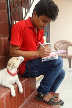 More Puppy Love, Kamlesh being adored and appreciated by a cute little patient. #puppylove #cuteanimalphoto #mansbestfriend #dharamsaladogs #puppies