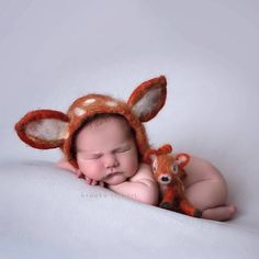 979f51dbe61 Newborn Felted Fawn Set with hat and deer stuffy   MADE TO ORDER  hand  felted