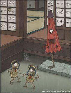 Mokumoku-ren | Yokai.com many-eyed muraji (a hereditary title used in ancient Japan)