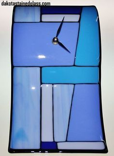 A contemporary fused glass clock created in our clock glass class! #fusedglass #glassart #clock