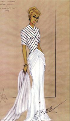 Costume Sketch - 1948 - by Irene - Made for Cyd Charisse - 'On an Island With You' - @~ Watsonette
