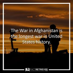 The War in Afghanistan has lasted longer than the Civil War, Spanish-American War, World War I, World War II, and Korean War--combined. #afghanistan #history #facts