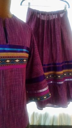 Women's native American style Ribbon shirt & by RedHandedTrade