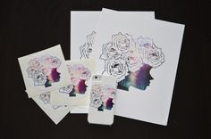 Prints ✨ stickers✨ and phone cases ✨ now available at www.society6.com/Tesoro