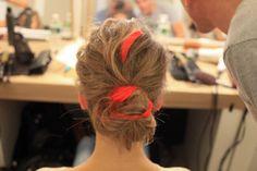 The hair at Oscar de la Renta's resort 2013 show. #hairextensions #hair