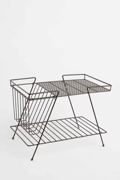 Magazine Rack and Basket in Black - Urban Outfitters