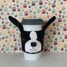 Boston Terrier Gifts Boston Terrier Mug Cozy by HookedbyAngel