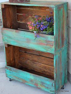 Estante para plantas de caixote de feira