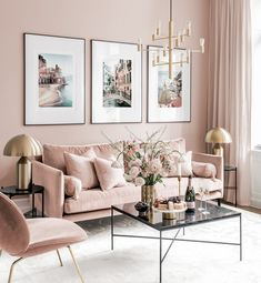 Gallery Wall Inspiration - Shop your Gallery Wall Home Living Room, Living Room Designs, Living Room Decor, Bedroom Decor, Blush Living Room, Living Room Wall Decor Ideas Above Couch, Nordic Living Room, Bedroom Ideas, Dining Room