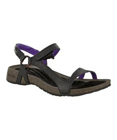 Another great find on #zulily! Black & Purple Cabrillo Leather Sandal - Women by Teva #zulilyfinds