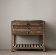 reclaimed wood sink vanity