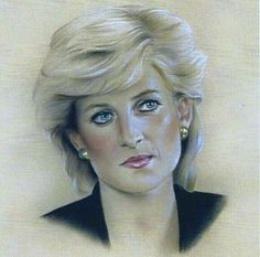 Princess Diana - This portrait was done by her son, Prince Harry.