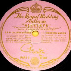 Duke of Kent & Princess Marina  Alleluya  THE ROYAL WEDDING ANTHEM 78rpm 10