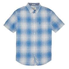#FashionVault #perry ellis #Men #Tops - Check this : Original Penguin CLASSIC FIT GRADIENT PLAID LINEN SHIRT for $54.99 USD