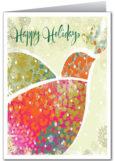 Modern Whimsical Holiday Greeting Card