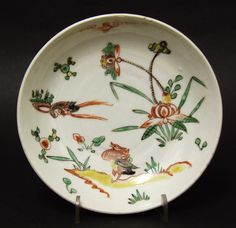 A Chongzhen Period (Chinese, Late Ming Dynasty, 1627-1644) Wucai Enameled Porcelain Dish Made for the Japanese Market. This is a Serving Dish (Mukozuke) made for the Japanese Tea Ceremony (Cha-no-yu) and would have been used for food. Decorated in Vibrant Wucai Enamels with a Pair of Ducks (a Chinese Symbol of Happy Marriage) among a Watery Landscape. The Base with a Large Chenghua Six Character Mark in Under-glaze Blue.