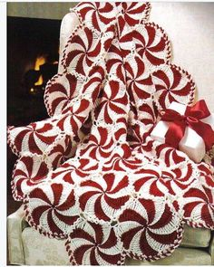 Peppermint Throw - orders being taken for May delivery