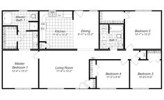 Modern Design  4 Bedroom House Floor Plans  FOUR BEDROOM HOME PLANS  House Plans & Home Designs