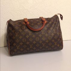 "Selling this ""Louis Vuitton Speedy 35 Monogram Duffel Handbag"" in my Poshmark closet! My username is: deepeevintage. #shopmycloset #poshmark #fashion #shopping #style #forsale #Louis Vuitton #Handbags"