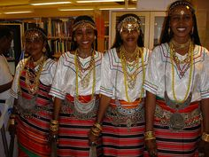 Young Afars women from Djibouti, a country in S.E. Africa, formerly French Somaliland.