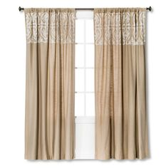 Threshold� Scroll Embroidery Curtain Panel