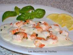 Les Meilleures Recettes de Scampis Ciabatta, Sauce Creme, Shrimp, Chicken, Meat, Food, Scampi Recipe, Cooking Recipes, Easy Entry