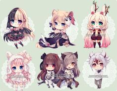 Chibi commissions 12 by LaDollBlanche