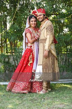 """Pooja Shah"" our adorable bride striking a beautiful pose on her #weddingday! We're all <3 #HappyAsopalavBride #NewCollection #AttentionToDetail #AsopalavBrides #Ahmedabad #Bridal #HappyBrides #DesignerCollection #Granduer #Royal #elegance #elegantmotifs #ElegantBridalWear #Indianweddings #Indianfashion #BigFatIndianWeddings #Bridalwear #BridalElegance #NewGenerationBrides #IndianEthnicWear #bridalboutique #bridalinspiration #NRIBrides #traditionalwear #Gharchola #Panetar"