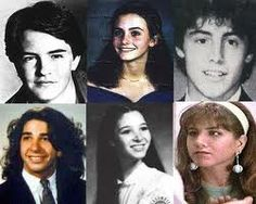 Young Matthew Perry, Courteney Cox, Matt LeBlanc, David Schwimmer, Lisa Kudrow, and Jennifer Aniston.
