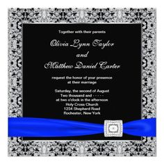 ReviewRoyal Blue Black Silver Lace Wedding Personalized Inviteso please read the important details before your purchasing anyway here is the best buy