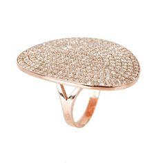 St Tropez Ring Rosegold White Zircon