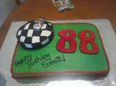Dale Earnhardt Jr birthday cake I made for my brothers 40th birthday.