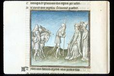 Publius Papinius Statius Thebais , with the argumenta antiqua; Achilleis, Francja, ok. 1405, f28