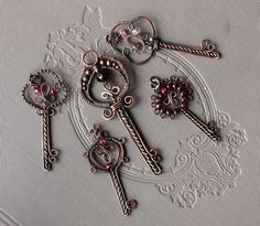 "Wonderful wire wrapped ""keys""  by tapointt, via Flickr"