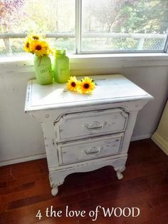 4 the love of wood: FURNITURE ABUSE and ANNIE SLOAN - sunflower bedsides