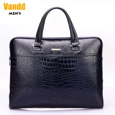 Aliexpress.com : Buy Vend Men's Fashion Crocodile Embossing Zipper PU Leather Blue Tote Handbag Briefcase Shoulder Messenger Bag New Designer Style from Reliable eyebrow piercing shop suppliers on Vandd Men. $88.00