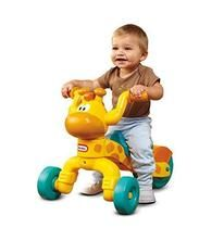 Little Tikes Go and Grow Lil' Rollin' Giraffe Ride-on. Make sure this fits by entering your model number. Friendly giraffe ride-on and scoot toy with adjustable seat. The over-sized back wheel provides added stability and includes a wheel guard for safety Toddler Bike, Toddler Toys, Baby Toys, Kids Toys, Toddler Gifts, Toddler Activities, Little Tikes, Girl Gifts, Baby Gifts