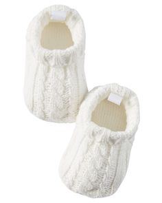 Baby Girl Cable Knit Booties | Carter's OshKosh Canada